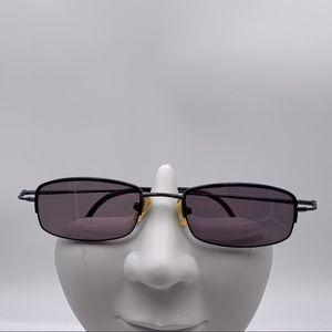 Vintage Black Oval Half Rim Sunglasses Frames